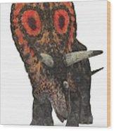 Torosaurus Dinosaur Wood Print