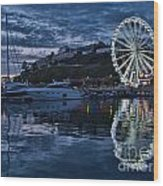 Torquay Marina And The Big Wheel Wood Print