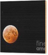 Total Lunar Eclipse Wood Print