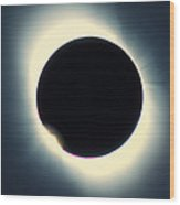 Total Solar Eclipse From Aruba, 26/02/1998 Wood Print by David Nunuk