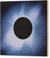 Total Solar Eclipse Wood Print by Rev. Ronald Royer