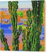 Totem Cactus Wood Print