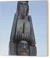 Totem Pole 14 Wood Print