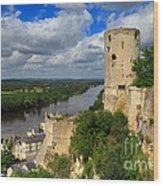 Tour Du Moulin And The Loire River Wood Print