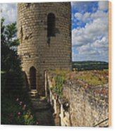 Tour Du Moulin At Chateau Chinon Wood Print