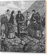 Tourists At Vesuvius, 1872 Wood Print