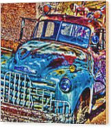 Tow Truck Wood Print