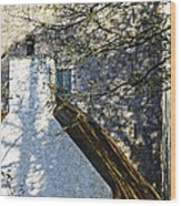 Tower And Thatch Wood Print