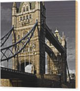 Tower Bridge Wood Print by David Pyatt