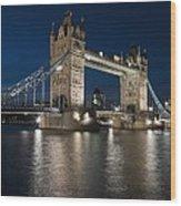 Tower Bridge Dusk Wood Print