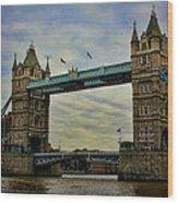 Tower Bridge London Wood Print by Heather Applegate