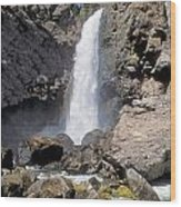 Tower Fall Of Yellowstone Wood Print