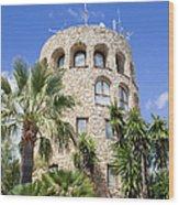 Tower In Puerto Banus Wood Print