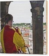 Tower Trumpeter - Prague Wood Print
