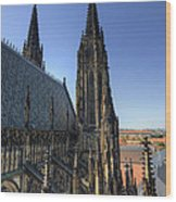 Towers Of The Cathedral Wood Print