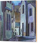 Town In Italy Wood Print by Carol Mangano