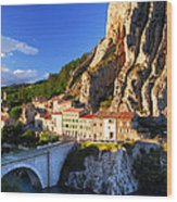 Town Of Sisteron In Provence France Wood Print
