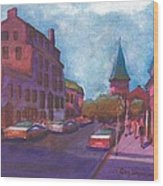 Town With Colors Wood Print