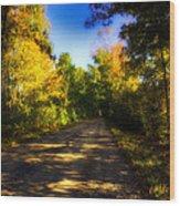 Townline Road Wood Print
