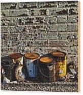 Toxic Alley Grunge Art Wood Print