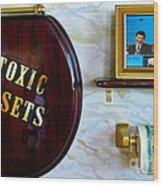 Toxic Assets Wood Print by Dawn Graham