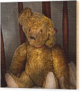 Toy - Teddy Bear - My Teddy Bear  Wood Print by Mike Savad