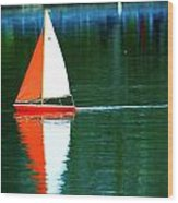 Toy Boat Wood Print