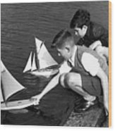 Toy Boats Wood Print by Harry Todd