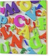 Toy Letters Wood Print