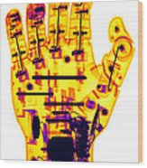 Toy Robotic Hand X-ray Wood Print