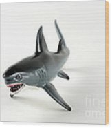 Toy Shark Wood Print by Photo Researchers, Inc.