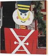 Toy Soldier Christmas In Virginia City Wood Print
