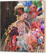 Toy Vender In San Jose Del Cabo Mexico Wood Print