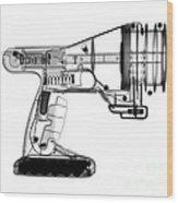 Toy Vortex Gun Wood Print