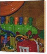 Toys Toys Toys Wood Print