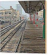 Track Lines Wood Print