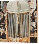 Tractor Face Wood Print