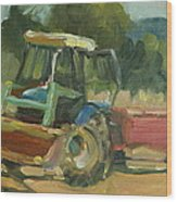 Tractor In Italy Wood Print