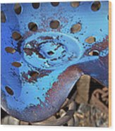 Tractor Seat Close Up Wood Print
