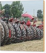 Tractor Tires Wood Print