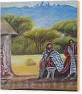 Traditional African Men Wood Print