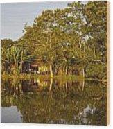 Traditional Amazon Village Wood Print