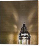 Traditional Lantern At Riad Dar Hanane Wood Print