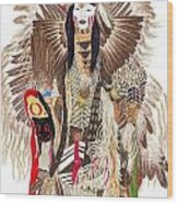 Traditional Pow-wow Dancer 1 Wood Print