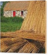 Traditional Thatching, Ireland Wood Print