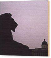 Lion Of London Wood Print