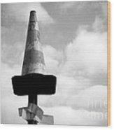 Traffic Cone Wood Print