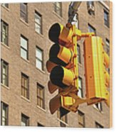 Traffic Signal Wood Print by Keith McInnes Photography