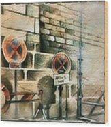 Traffic Signs In Dusseldorf 1982 Wood Print by Glenn Bautista