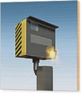 Traffic Speed Camera Wood Print by Victor Habbick Visions